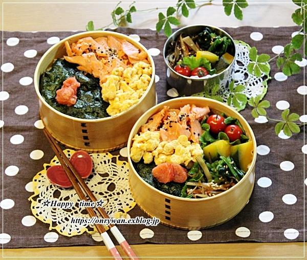 ご飯の上にのっけ盛り弁当と今夜はビーフシチュー♪_f0348032_17202760.jpg