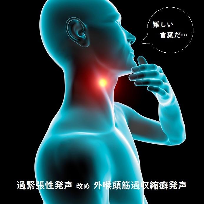 病気でない過緊張性発声を外喉頭筋過収縮癖発声と呼称 - 喉ニュース