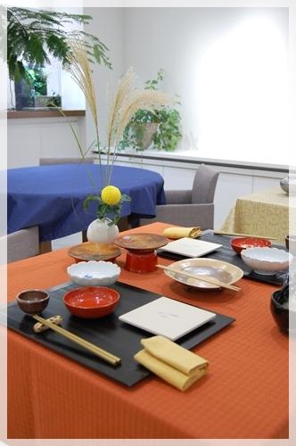 和のアレンジテーブル~基本クラス_d0217944_21361578.jpg