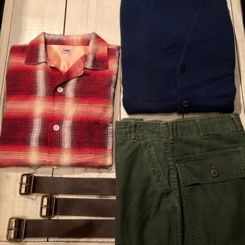 """1950s \"""" FRUIT OF THE LOOM - SPORTS WEAR - \"""" ALL cotton PRINT-FLANNEL CHECK SHIRTS ._d0172088_15364623.jpg"""