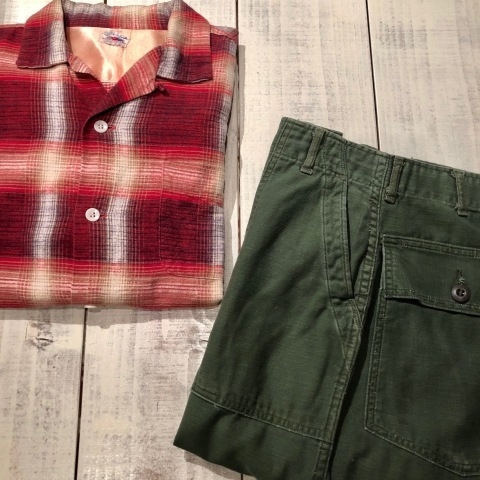"""1950s \"""" FRUIT OF THE LOOM - SPORTS WEAR - \"""" ALL cotton PRINT-FLANNEL CHECK SHIRTS ._d0172088_15423420.jpg"""