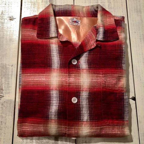 """1950s \"""" FRUIT OF THE LOOM - SPORTS WEAR - \"""" ALL cotton PRINT-FLANNEL CHECK SHIRTS ._d0172088_16292497.jpg"""