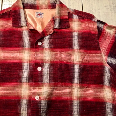 """1950s \"""" FRUIT OF THE LOOM - SPORTS WEAR - \"""" ALL cotton PRINT-FLANNEL CHECK SHIRTS ._d0172088_16314447.jpg"""