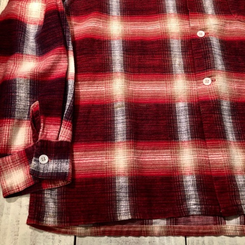 """1950s \"""" FRUIT OF THE LOOM - SPORTS WEAR - \"""" ALL cotton PRINT-FLANNEL CHECK SHIRTS ._d0172088_16415469.jpg"""