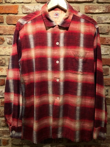 """1950s \"""" FRUIT OF THE LOOM - SPORTS WEAR - \"""" ALL cotton PRINT-FLANNEL CHECK SHIRTS ._d0172088_16493003.jpg"""
