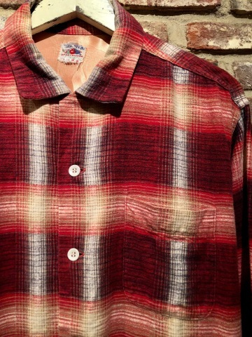 """1950s \"""" FRUIT OF THE LOOM - SPORTS WEAR - \"""" ALL cotton PRINT-FLANNEL CHECK SHIRTS ._d0172088_16494651.jpg"""