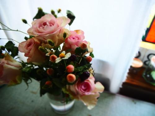 ピンクのバラを_c0148232_12330309.jpg