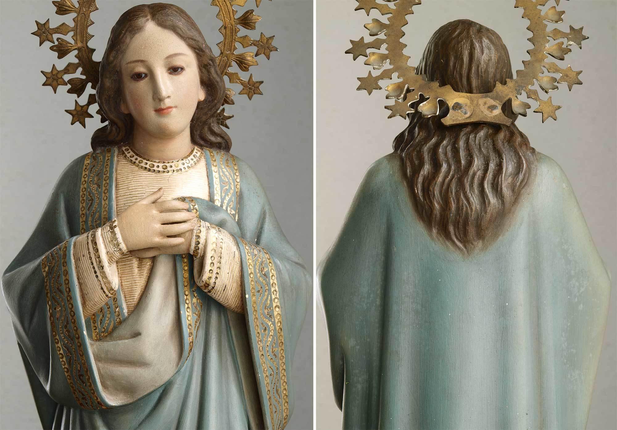 胸に手を当てる聖母マリア像   /G694_e0324838_01572420.jpg