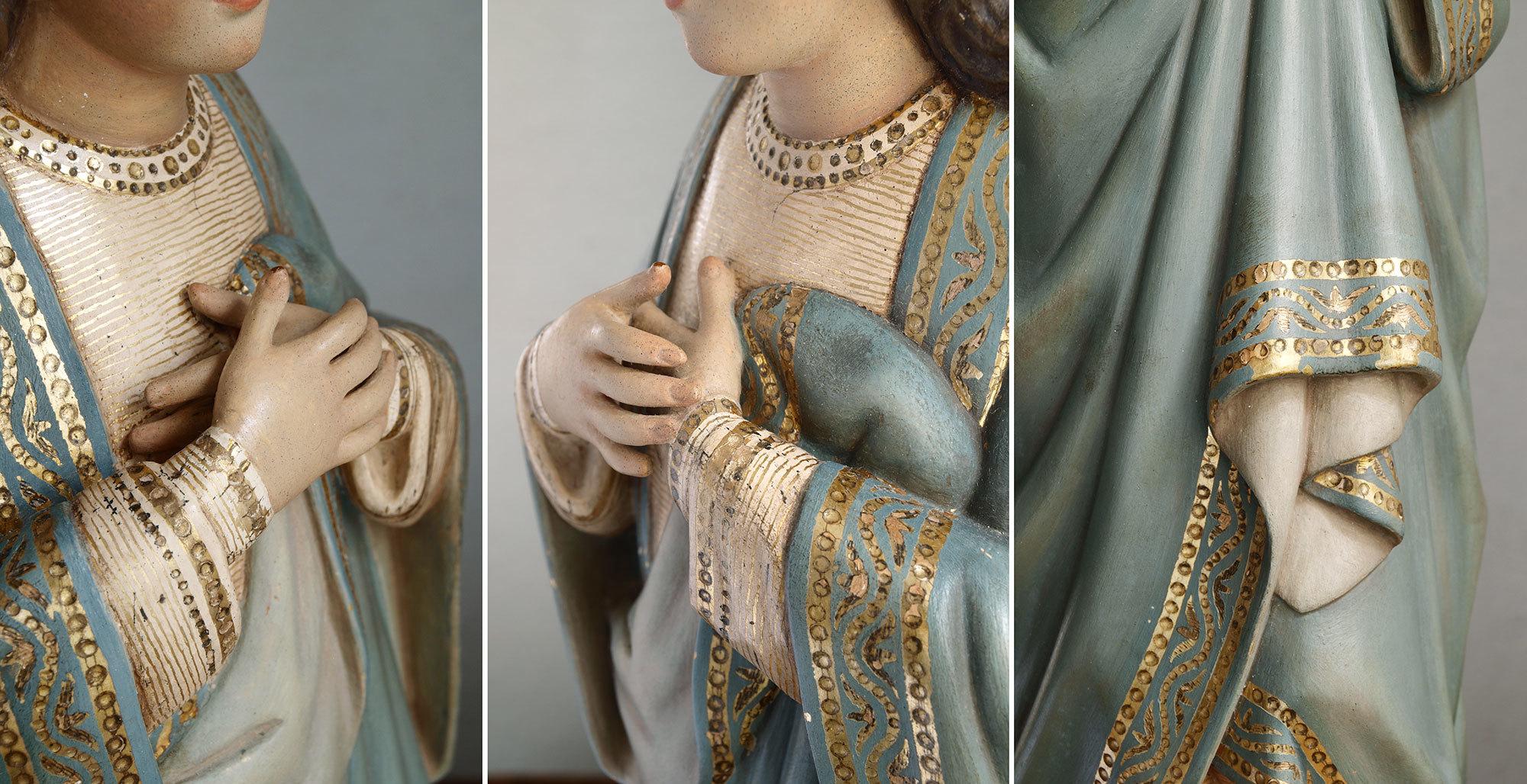 胸に手を当てる聖母マリア像   /G694_e0324838_01572445.jpg