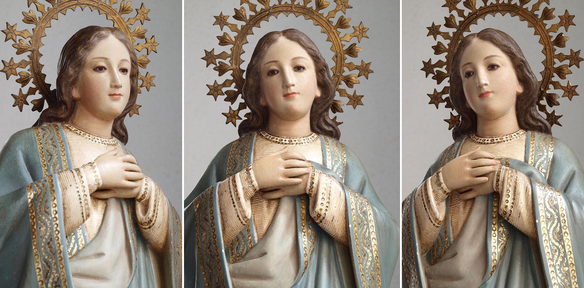 胸に手を当てる聖母マリア像   /G694_e0324838_01572468.jpg