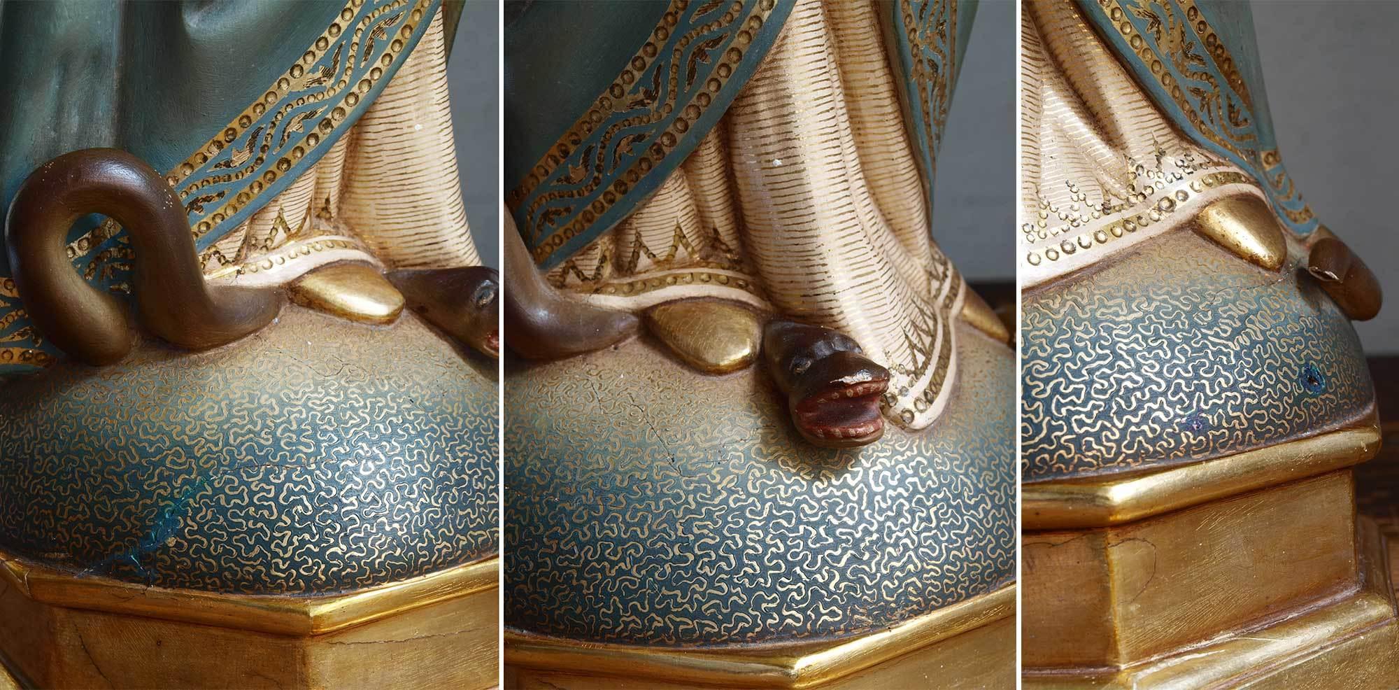 胸に手を当てる聖母マリア像   /G694_e0324838_01572565.jpg