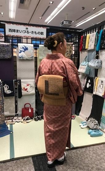 サローネ・単衣の紬に藤布の帯・しな布の帯のお客様。_f0181251_18305342.jpg