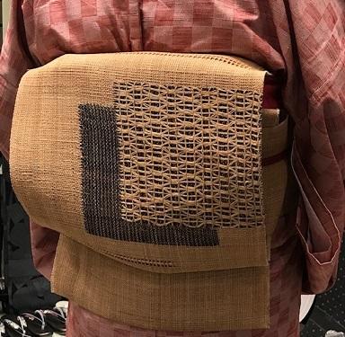 サローネ・単衣の紬に藤布の帯・しな布の帯のお客様。_f0181251_18312417.jpg