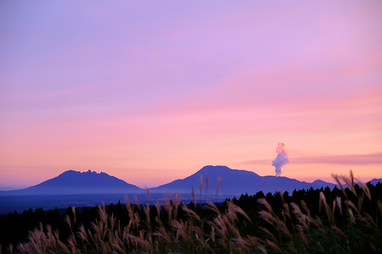 キャンプ場で見た夕焼け。_a0129474_20533858.jpg