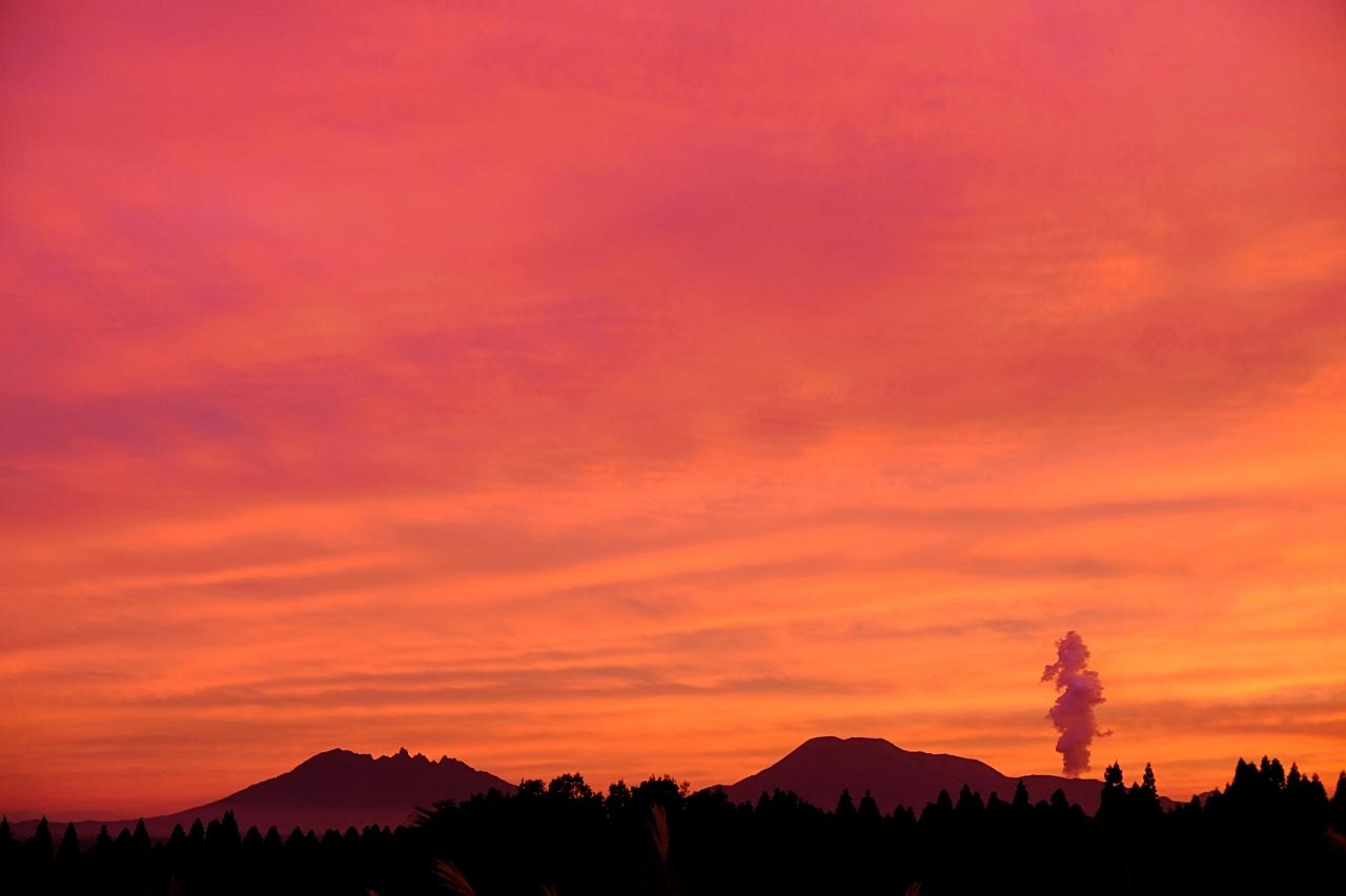 キャンプ場で見た夕焼け。_a0129474_20574452.jpg
