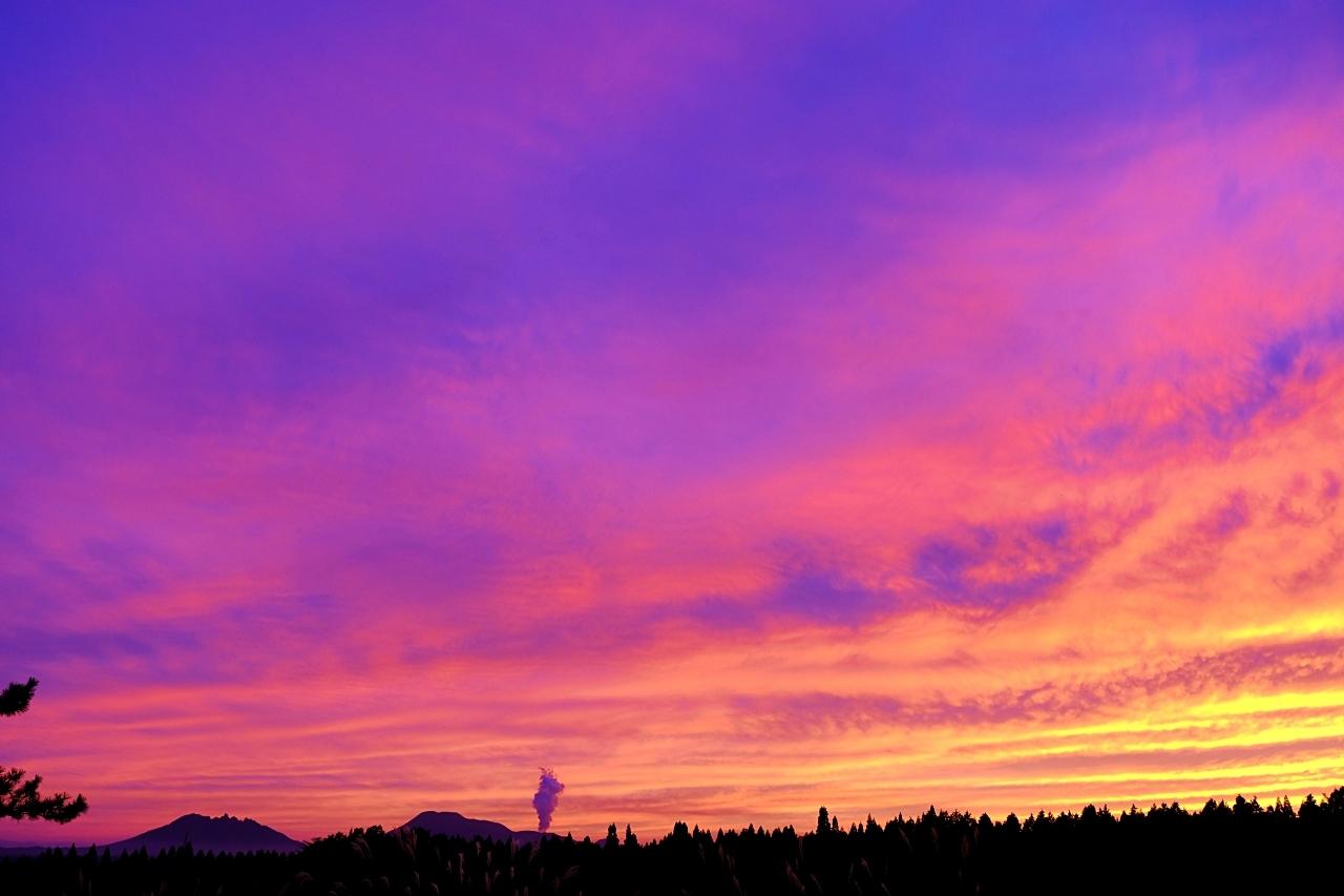 キャンプ場で見た夕焼け。_a0129474_20575570.jpg