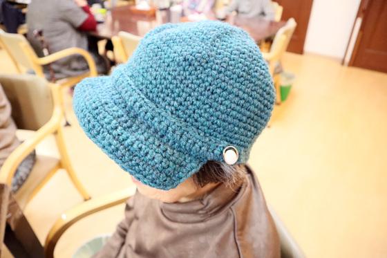 編みもの ~ キャスケット型ニット帽 ~_e0222340_15444795.jpg