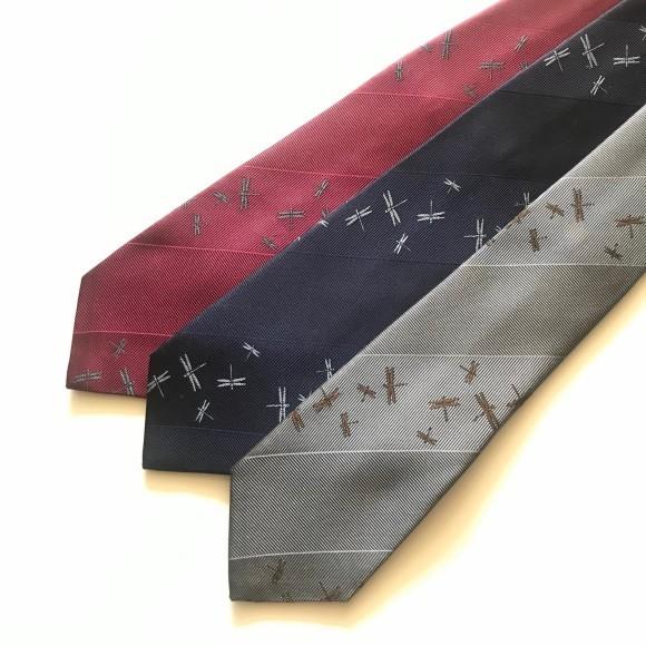 山崎織物さん ネクタイと蜻蛉のストール_b0353974_17585119.jpg