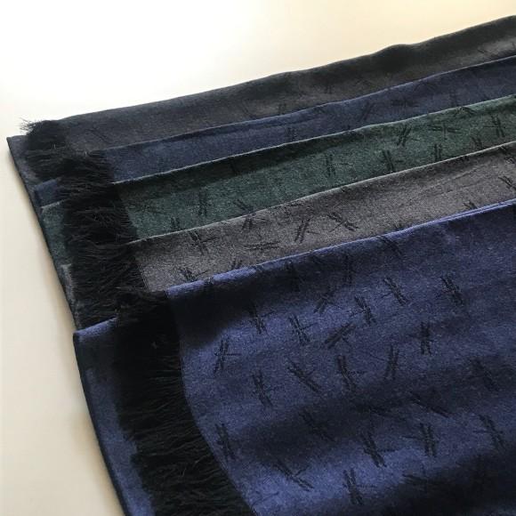 山崎織物さん ネクタイと蜻蛉のストール_b0353974_18362385.jpg