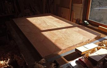 1400×850mm ダイニングテーブル製作 その2_a0061599_22143539.jpg