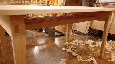 1400×850mm ダイニングテーブル製作 その2_a0061599_22151147.jpg