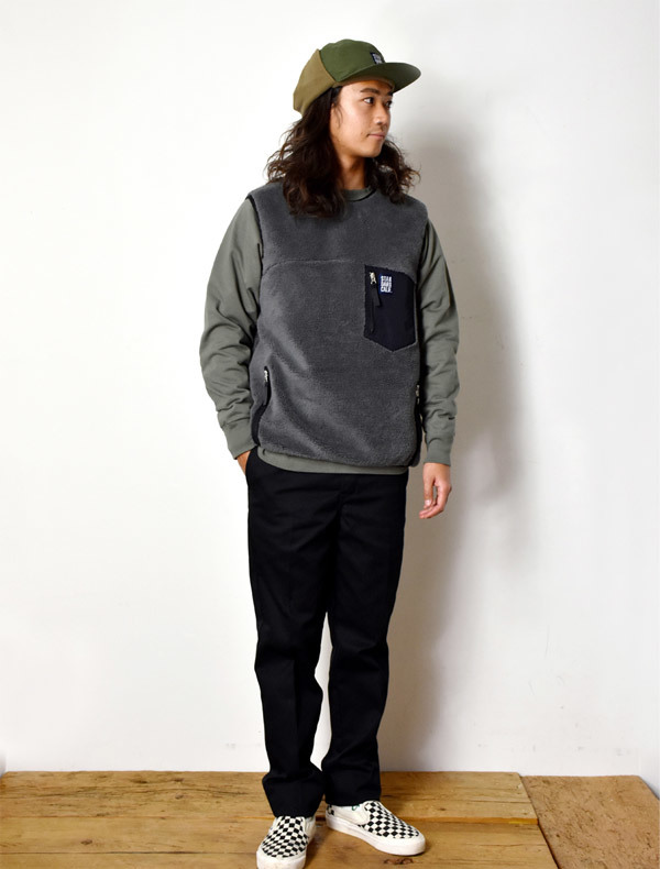 【DELIVERY】 STANDARD CALIFORNIA - Classic Pile Vest_a0076701_12013531.jpg