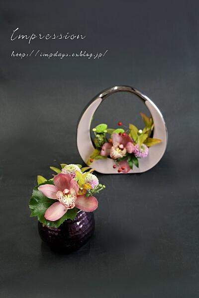 定期装花から シンビジューム「オータム」_a0085317_19314384.jpg