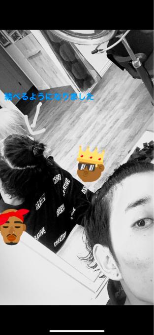 髪の毛伸びたな〜_e0062921_10062413.jpg