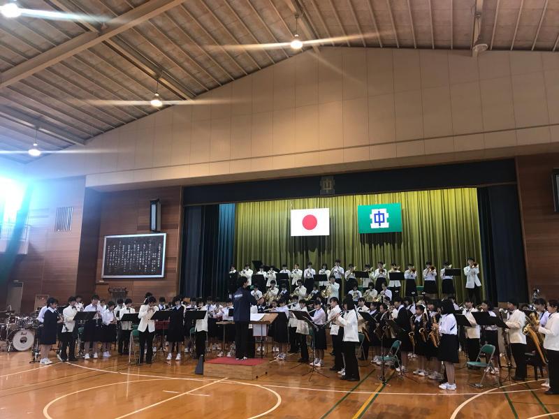 今日は、朝から倉敷市立北中学校にお邪魔しています!_d0016622_13124605.jpg