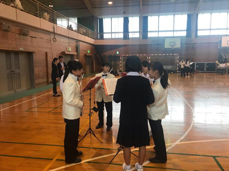 今日は、朝から倉敷市立北中学校にお邪魔しています!_d0016622_15320121.jpg