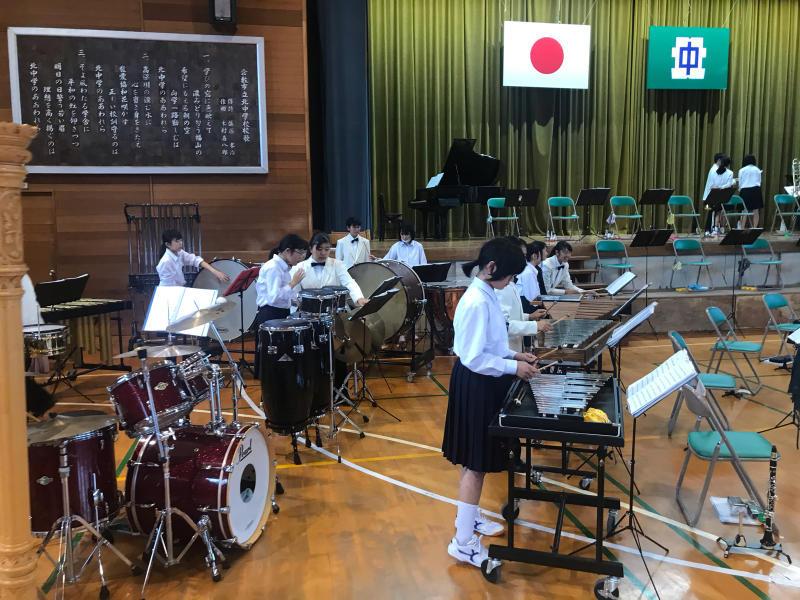 今日は、朝から倉敷市立北中学校にお邪魔しています!_d0016622_15321321.jpg