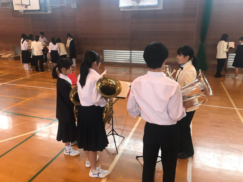 今日は、朝から倉敷市立北中学校にお邪魔しています!_d0016622_15330738.jpg