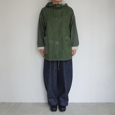 Slow Hands : Recycle tent hooded smock jacket_a0234452_16011519.jpg