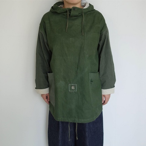 Slow Hands : Recycle tent hooded smock jacket_a0234452_16014366.jpg