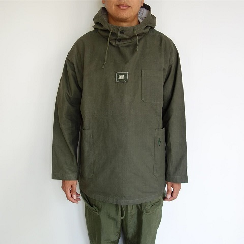 Slow Hands : Recycle tent hooded smock jacket_a0234452_16014657.jpg