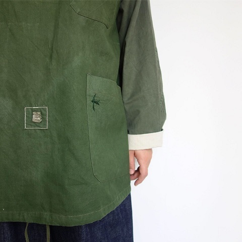 Slow Hands : Recycle tent hooded smock jacket_a0234452_16015346.jpg