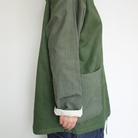 Slow Hands : Recycle tent hooded smock jacket_a0234452_16015739.jpg