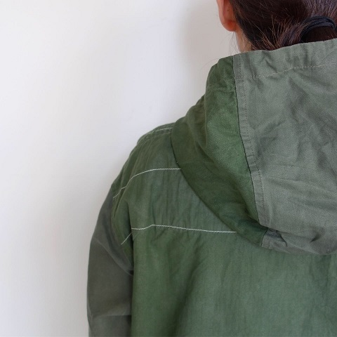 Slow Hands : Recycle tent hooded smock jacket_a0234452_16020378.jpg