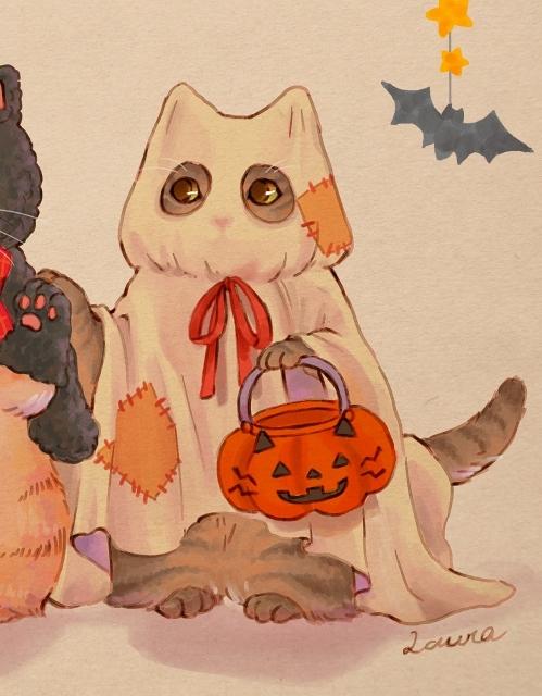 みんなでハロウィンパーティーへ♪ーLauraのイラスト_d0025294_18191208.jpg