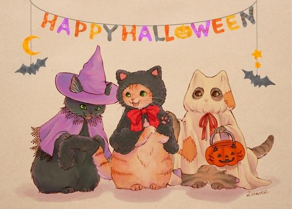 黒猫帽子でイラストとリンク♪ Happy Halloween!_d0025294_21000981.jpg