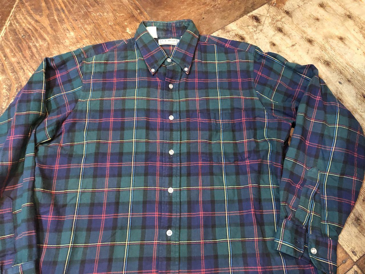 10月26日(土)入荷!!80s MADE IN U.S.A  L.L Bean  B.D フランネルシャツ! _c0144020_13215054.jpg