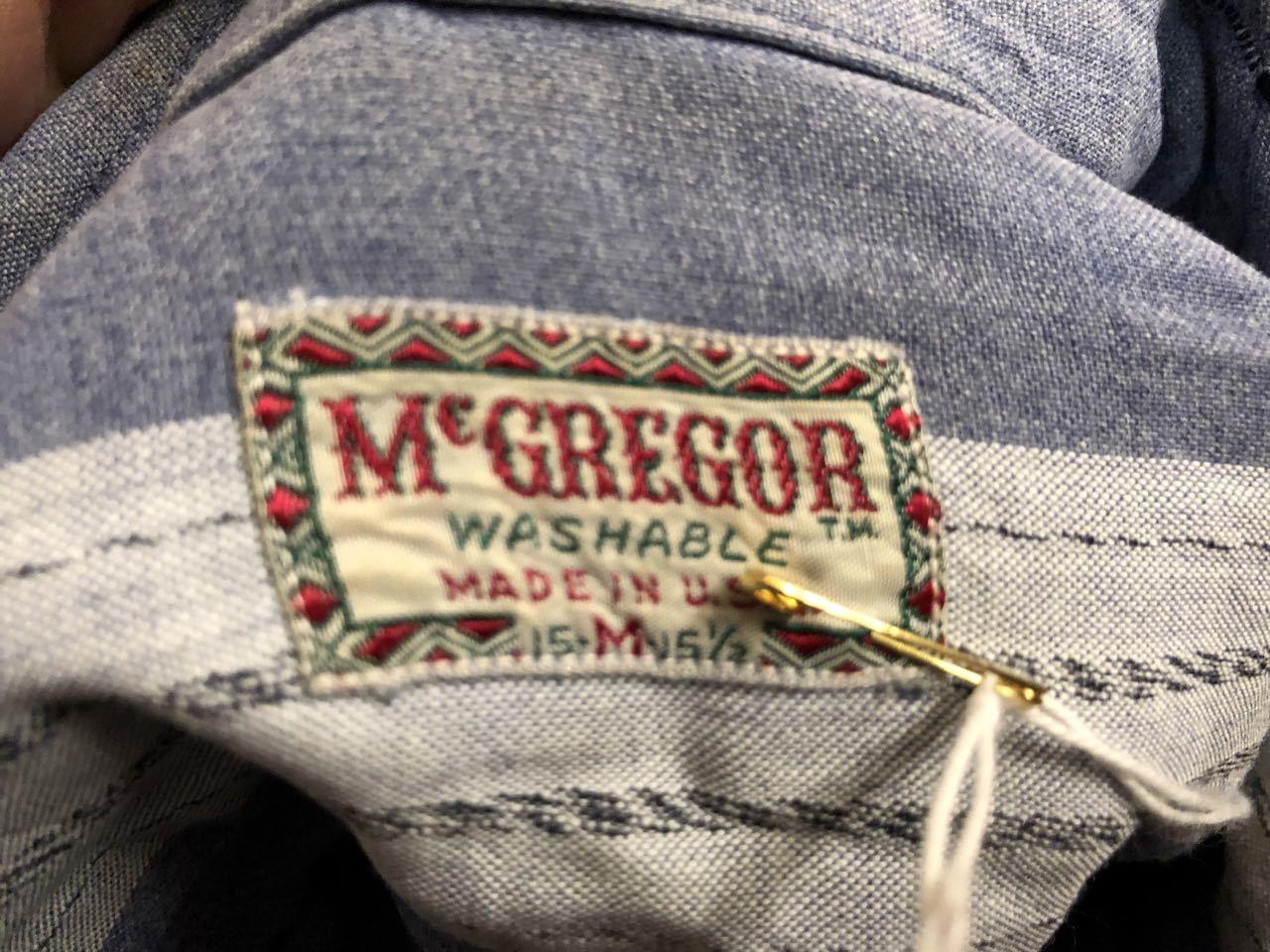 10月26日(土)入荷!!50s マクレガー McGregor レーション ボーダーシャツ!_c0144020_17393869.jpg