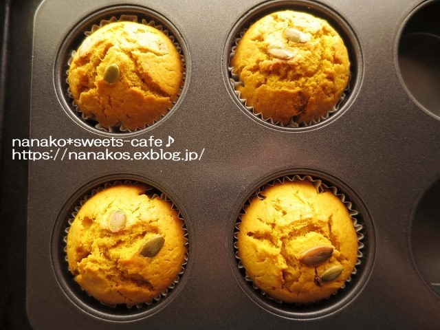 ハロウィン*かぼちゃのマフィン(レシピあり)_d0147030_20363738.jpg