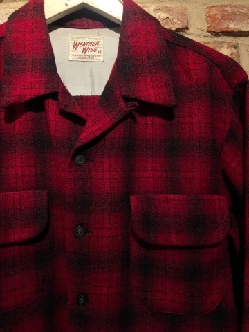"""1950s \"""" WEATHER WISE \"""" 100% WOOL VINTAGE - Ombre CHECK - BOX TAIL SHIRTS ._d0172088_16024525.jpg"""