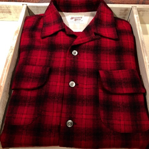 """1950s \"""" WEATHER WISE \"""" 100% WOOL VINTAGE - Ombre CHECK - BOX TAIL SHIRTS ._d0172088_18333861.jpg"""