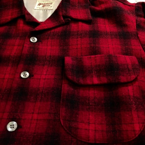 """1950s \"""" WEATHER WISE \"""" 100% WOOL VINTAGE - Ombre CHECK - BOX TAIL SHIRTS ._d0172088_18345233.jpg"""