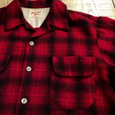 """1950s \"""" WEATHER WISE \"""" 100% WOOL VINTAGE - Ombre CHECK - BOX TAIL SHIRTS ._d0172088_18365157.jpg"""