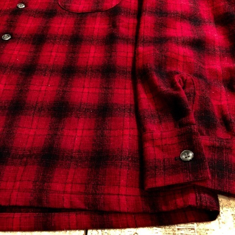 """1950s \"""" WEATHER WISE \"""" 100% WOOL VINTAGE - Ombre CHECK - BOX TAIL SHIRTS ._d0172088_18373403.jpg"""