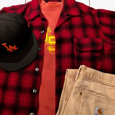 """1950s \"""" WEATHER WISE \"""" 100% WOOL VINTAGE - Ombre CHECK - BOX TAIL SHIRTS ._d0172088_19584123.jpg"""
