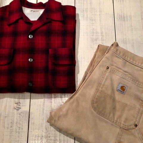 """1950s \"""" WEATHER WISE \"""" 100% WOOL VINTAGE - Ombre CHECK - BOX TAIL SHIRTS ._d0172088_19595086.jpg"""